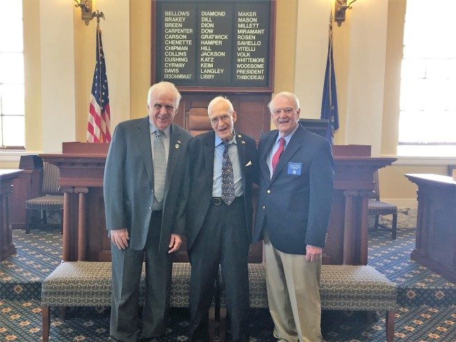 Sen Davis with Rep. Higgins and Clifford Wiley