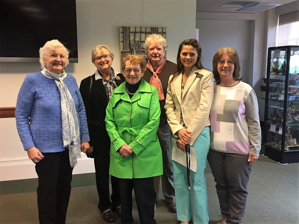 Sen Keim with Livermore Falls Women's Group