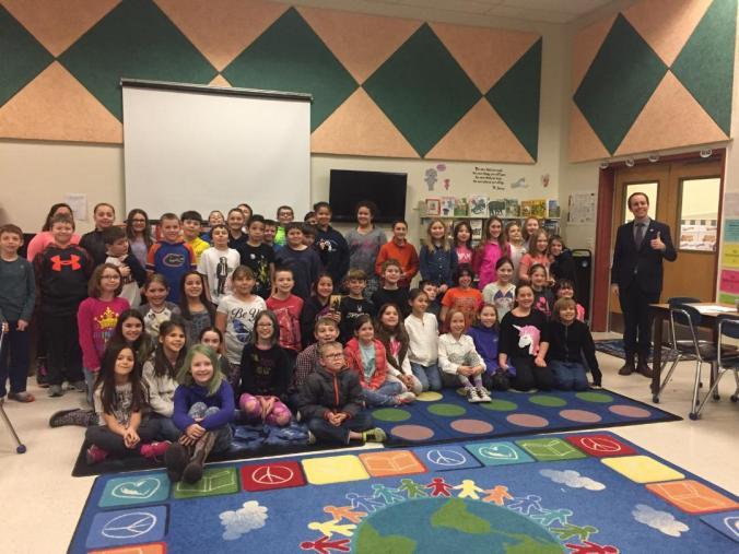 Brakey with Poland Community School 4th Graders.jpg