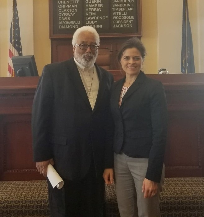 Keim with Rev. Coverdale